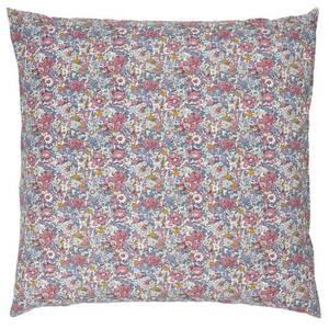 Bilde av Pude m/rosa, lilla og mustard blomster