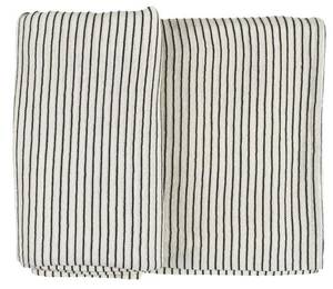 Bilde av Duk kvit med svarte striper